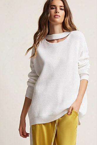 Lace-up Cutout Sweater