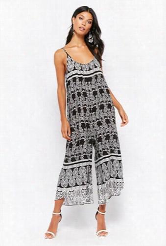 Ornate Print Culotte Jumpsuit