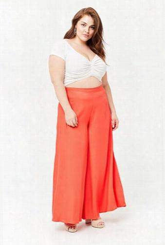 Plus Size High-waist Culottes