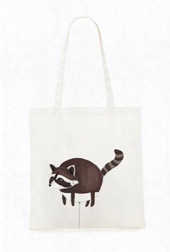 Raccoon Balloon Canvas Tote Bag