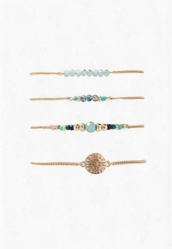 Sunburst Beaded Bracelet Set