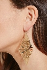 Cutout Triangle Drop Earrings