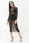 Sheer Mesh Midi Dress