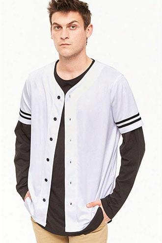 Varsity-stripe Baseball Jersey