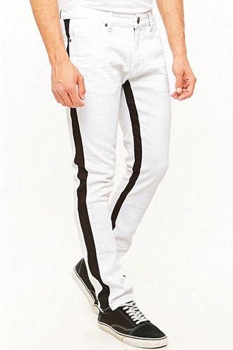 Xray Denim Contrast Stripe Jeans