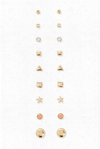 Assorted Stud Earrings Set