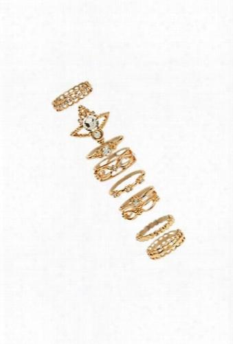 Brocade Stackable Ring Set