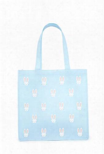 Bunny Print Tote Bag