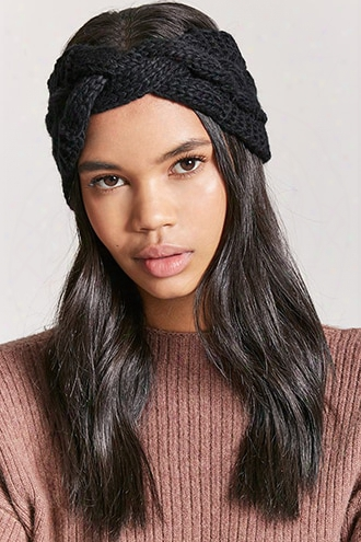 Cable Knit Twist-front Headwrap