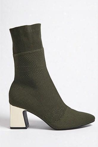 Chrome Heel Sock Boots