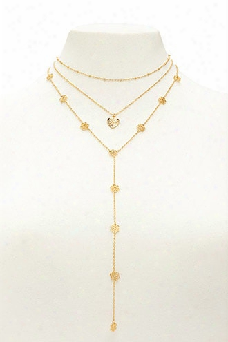 Drop Chain Pendant Necklace Set