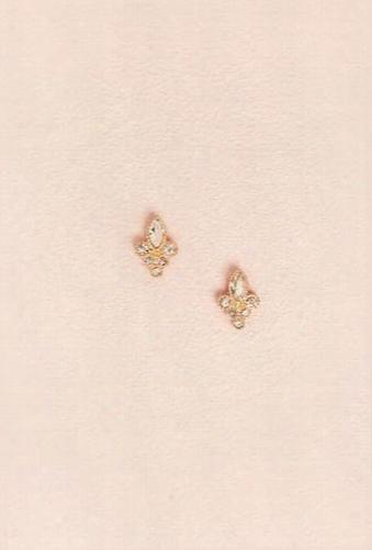 Faux Pearl & Crystal Earring Set