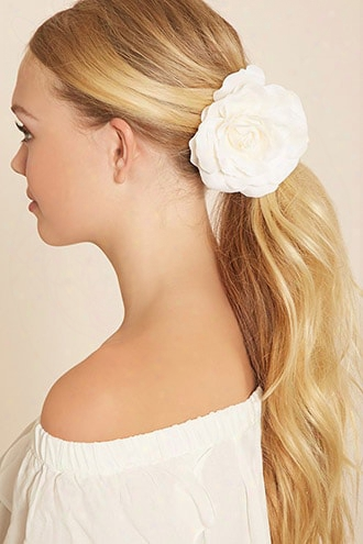 Faux Rose Hair Clip