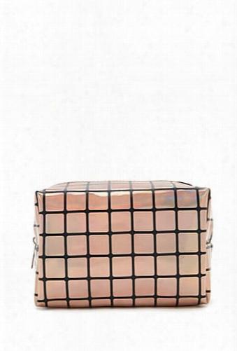 Geo Print Makeup Bag