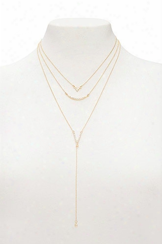 Layered Drop-chain Necklace