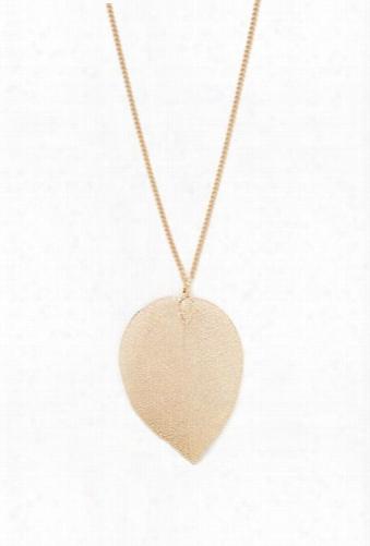 Leaf Pendant Longline Necklace