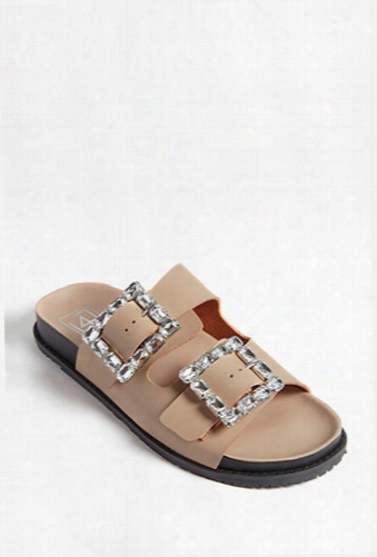 Lfl By Lust For Life Faux Leather & Gem Sandals