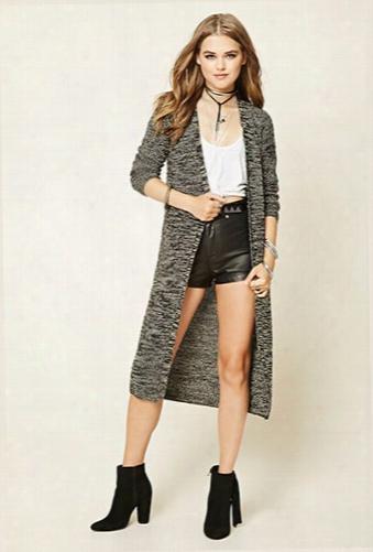 Longline Marled Knit Cardigan