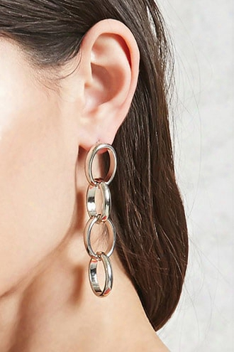 Loop Chain Drop Earrings