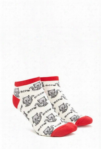 Meow Cat Ankle Socks