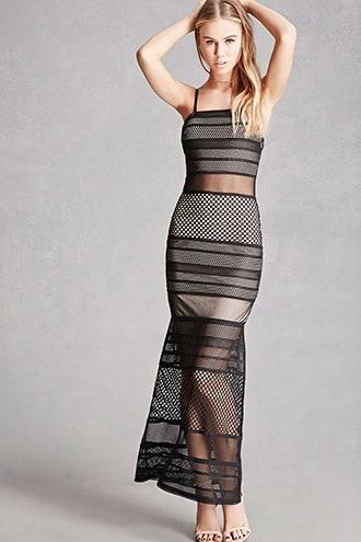 Mesh Cami Maxi Dress