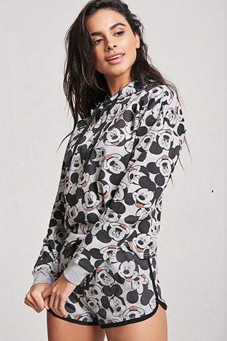 Mickey Mouse Graphic Pajama Hoodie