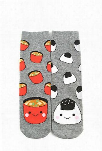 Onigiri & Miso Crew Socks