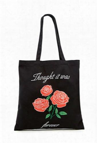 Roses Graphic Tote Bag