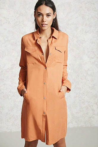 Snap-button Longline Jacket