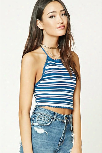 Striped Sweater Halter Top