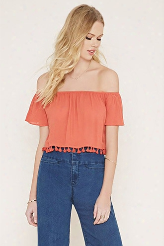 Tasseled Fringe Crop Top