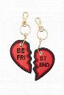 Best Friend Heart Keychain Set