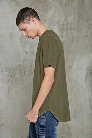 Curved-Hem Cotton Tee