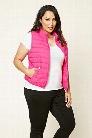 Plus Size Puffer Vest