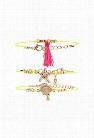 Seashell Tassel Bracelet Set