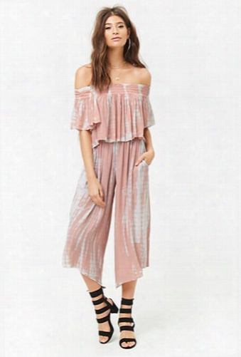 Tie-dye Wide Leg Ankle Pants