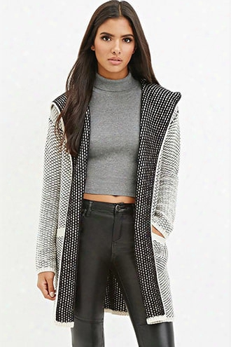 Contemporary Two-tone Textured Cardigan