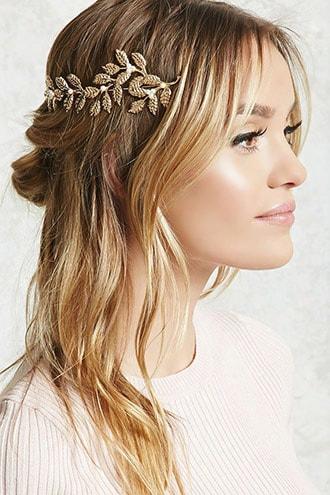 Etched Leaf Headband