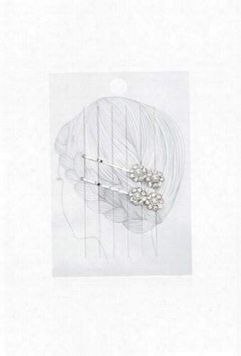 Faux Pearl And Rhinestone Flower Bobby Pin Set