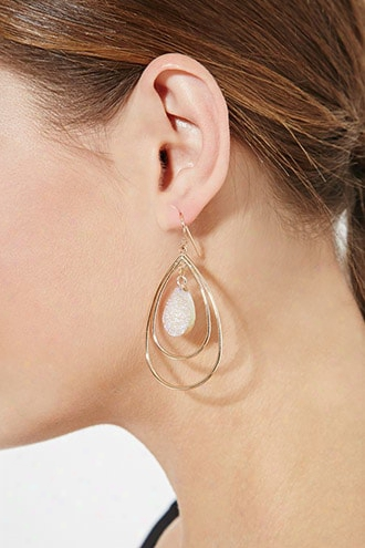 Faux Stone Cutout Drop Earrings