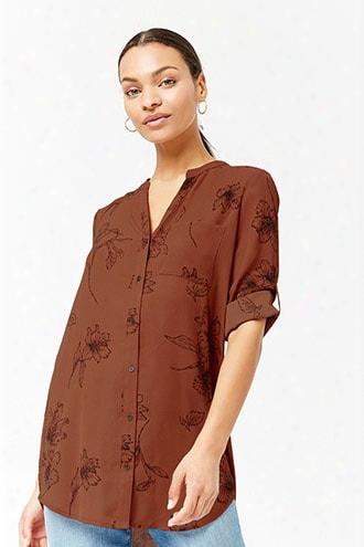 Floral Print Pocket Shirt