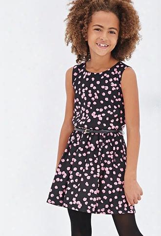 Girls Abstract Dot A-line Dress (kids)