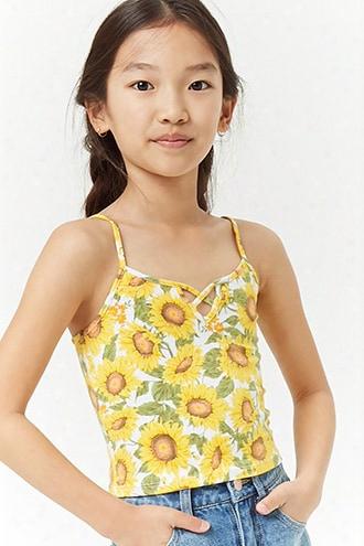 Girls Sunflower Print Cami (kids)