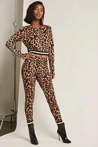 Leopard-print Joggers