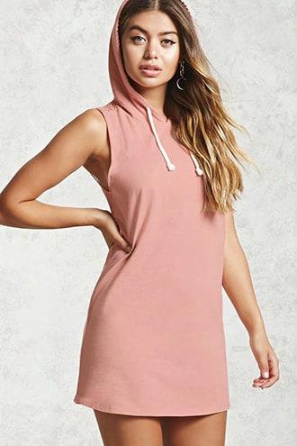 Mesh Hoodie Dress