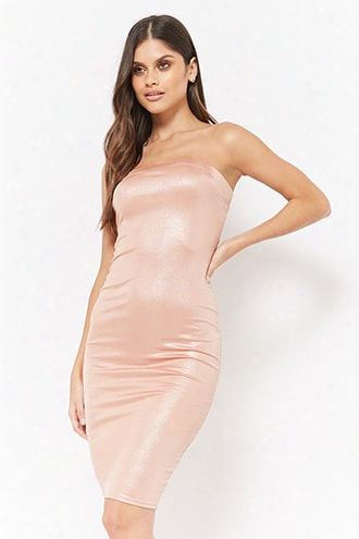 Metallic Tube Dress