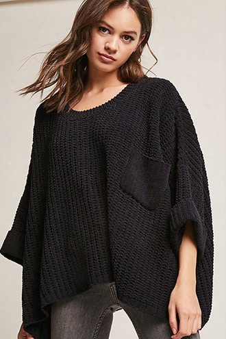 Oversized Chenille Sweater-knit Top