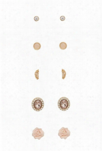 Rose Stud Earring Set