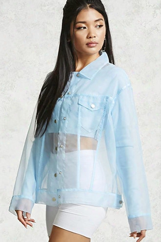 Sheer Snap Button Jacket