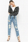 Distressed Frayed Jeans